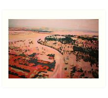 Pakistan flood landscape Art Print