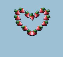 Strawberry Heart Womens Fitted T-Shirt