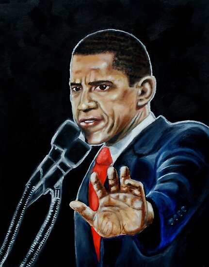 BARACK OBAMA by Copyright © Charles P. Coffin
