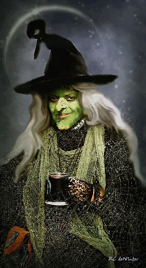 The Witch of Endor as a Cavalier by RC deWinter