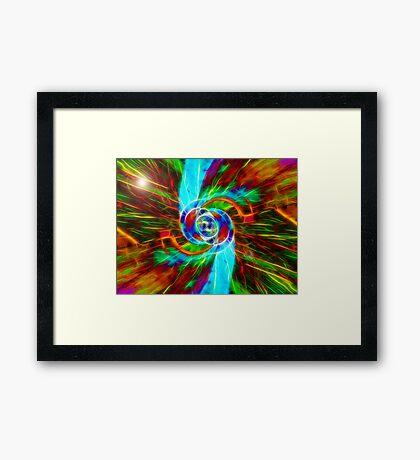 Collider Framed Print