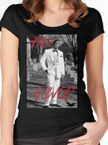 Free Guwop/Gucci/White Suit Women's Fitted Scoop T-Shirt