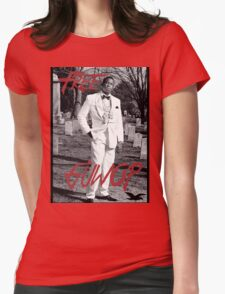 Free Guwop/Gucci/White Suit Womens Fitted T-Shirt