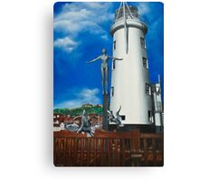 Bathing Belle. Scarborough lighthouse. North Yorkshire Canvas Print