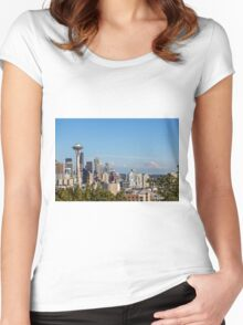 Seattle Skyline Women's Fitted Scoop T-Shirt