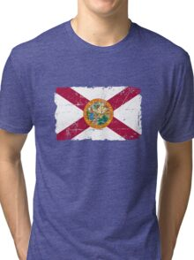 Florida Flag - Vintage Look Tri-blend T-Shirt