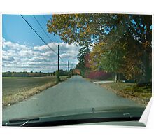 Drive Down Liberty Lane Farm - Fall in Rhode Island Poster