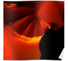 Red Bold Light Staircase Poster