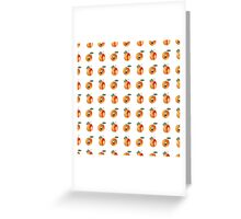Seamless pattern with watercolor apricots Greeting Card