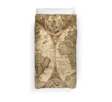Old World Map  Duvet Cover