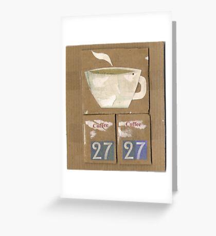 coffee saved my life Greeting Card