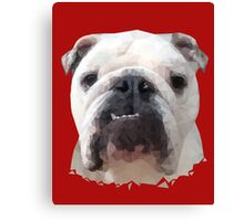 English Bulldog Polygonal Cubism Canvas Print