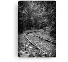 Thrown Railway Canvas Print