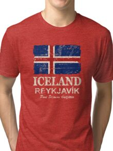 Iceland Flag - Vintage Look Tri-blend T-Shirt