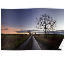 Country Road Sunrise Poster