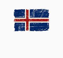 Iceland Flag - Vintage Look Unisex T-Shirt