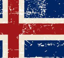 Iceland Flag - Vintage Look Sticker