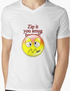 Zip it Mens V-Neck T-Shirt