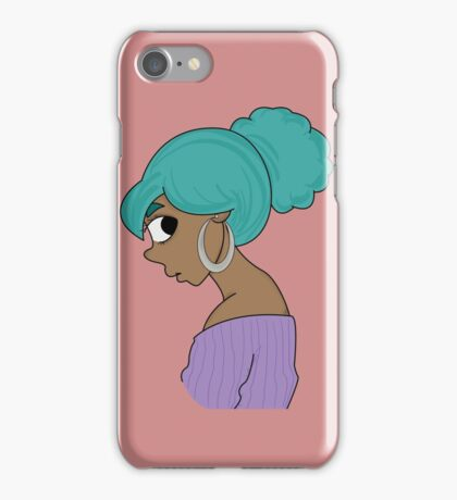 Teal Glance iPhone Case/Skin