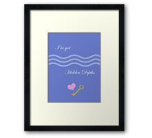Hidden Depths Framed Print