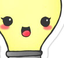 kawaii light bulb  Sticker