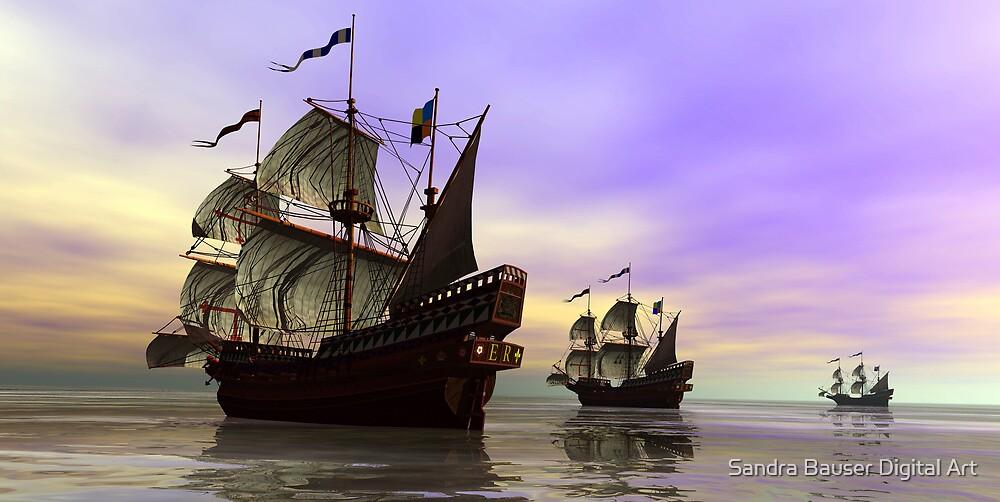 The Fleet by Sandra Bauser Digital Art