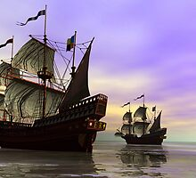 The Fleet by Sandra Bauser Digital Art