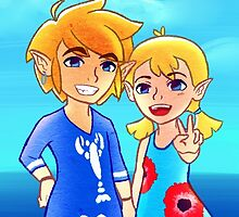 Wind Waker: Link and Aryll! by nye-fi