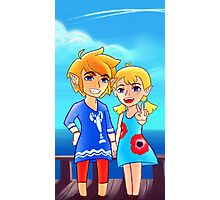 Wind Waker: Link and Aryll! Photographic Print