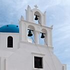 Santorini Churches: Blue Domes and Bell Towers by robrich