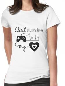 BSB - Quit playing games with my heart... Womens Fitted T-Shirt