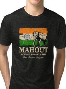 India Elephant Flag - Vintage Look Tri-blend T-Shirt