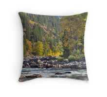 Icicle Creek Throw Pillow