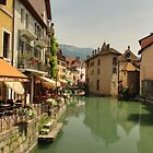 Old city of Annecy by Béla Török