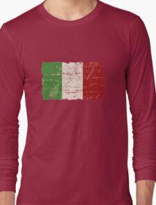 Italy Flag - Vintage Look Long Sleeve T-Shirt