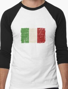 Italy Flag - Vintage Look Men's Baseball ¾ T-Shirt
