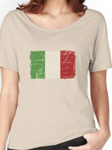 Italy Flag - Vintage Look Women's Relaxed Fit T-Shirt