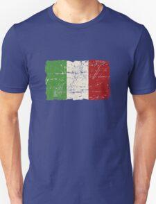Italy Flag - Vintage Look Unisex T-Shirt
