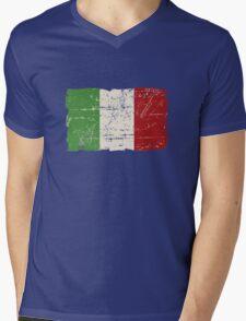 Italy Flag - Vintage Look Mens V-Neck T-Shirt