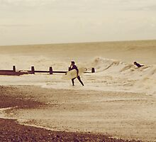 Cold Surfer Photographic Print