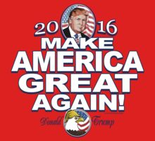 Donald Trump Make America Great 2016 Baby Tee