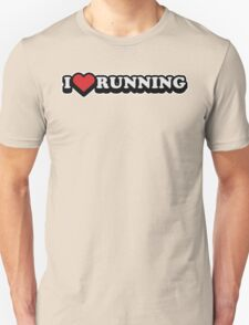 I Love Running Workout Exercise Gym T-Shirt