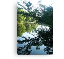 Morning reflections on the Fox River Canvas Print