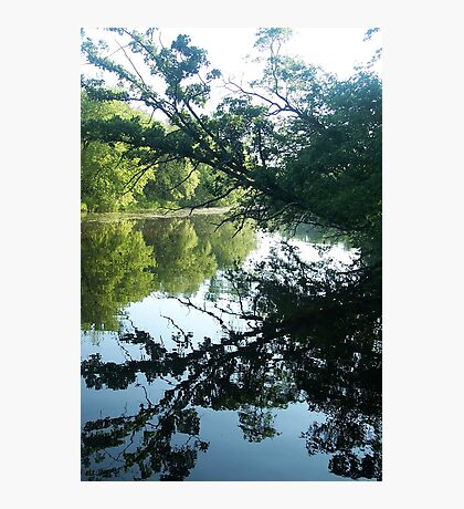 Morning reflections on the Fox River Photographic Print