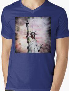 Statue of Liberty Mens V-Neck T-Shirt