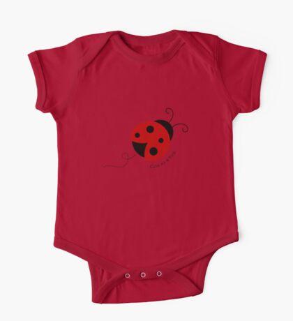 Cute as a Bug Ladybug One Piece - Short Sleeve