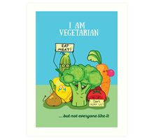 Angry vegetables Art Print