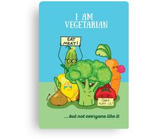 Angry vegetables Canvas Print