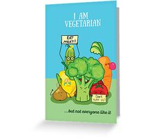 Angry vegetables Greeting Card