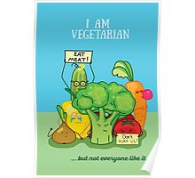 Angry vegetables Poster